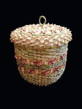 Lidded Fancy Curl Basket