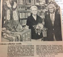 Niles Library display